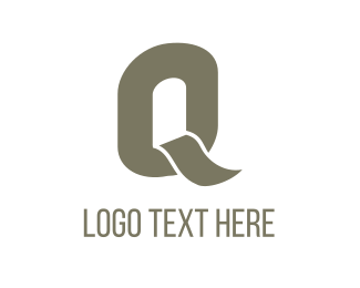 Letter Q - Grey Letter Q logo design