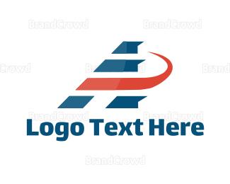 Bus Company - Aviation Letter A logo design