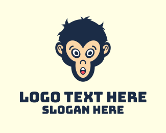 Chimpanzee - Gaming Monkey Avatar  logo design