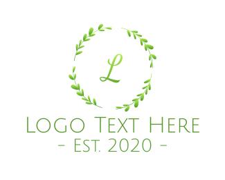 Herb - Green S Herb Wreath  logo design
