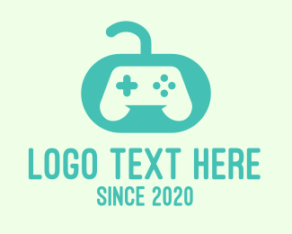 Video Game Controller - Teal Video Game Controller logo design