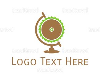 Globe - Saw Globe logo design