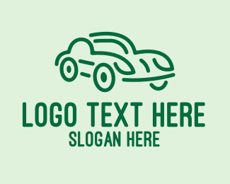 Automotive - Vintage Green Car logo design