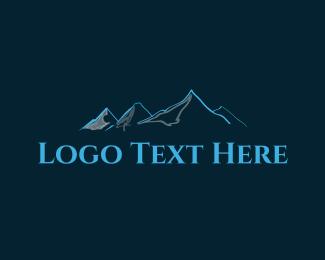 Glacier - Cold Mountains logo design