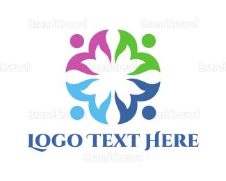Customer Support - Floral Team logo design
