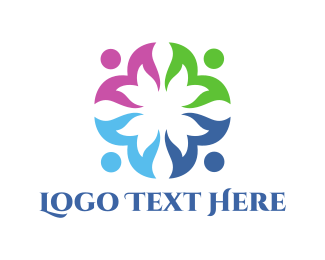 Foundations - Floral Team logo design