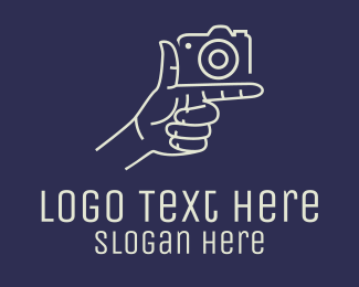 Arm - Camera Hand Monoline logo design