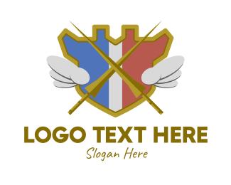Gamble - Medieval Jousting Emblem logo design