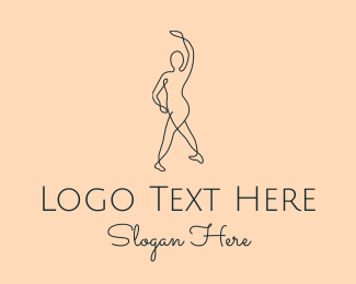 Performer - Monoline Ballet Performer logo design