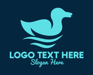 Ducky - Blue Duck Pond logo design