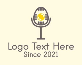 Microphone - Egg Microphone logo design