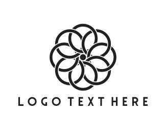 Interior Decoration - Black Flower logo design