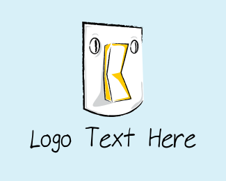 Flashlight - Light Switch logo design