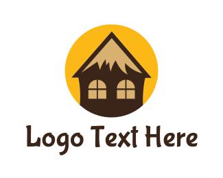 Cabin - Tropical Cottage logo design
