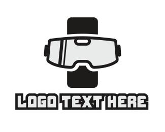 Virtual Reality - Smartphone VR Goggles logo design