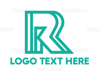Producer - Abstract Outline R logo design