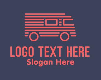 Speed - Red Truck Stripe logo design