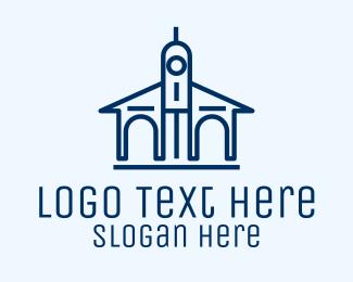 University - Blue University Building logo design