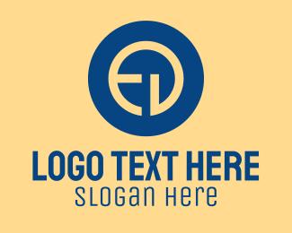De - Corporate Tech E & D logo design