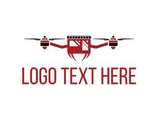 Uav - Drone Shop logo design
