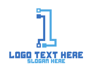 High Tech - High Tech Number 1 logo design