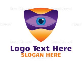 Watching - Surveillance Shield logo design