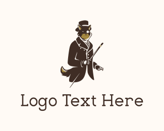 Gentleman - Elegant Brown Fox logo design