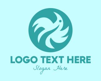 Green Bird - Green Bird Circle logo design