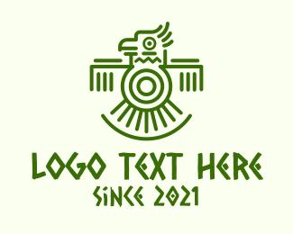 Macaw - Aztec Tribal Macaw logo design