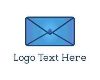 E-mail - Blue Mail logo design