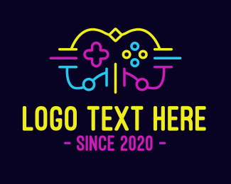 Console - Neon Console Gaming logo design