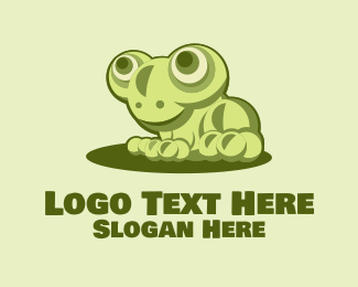 Animal - Cute Young Frog  logo design