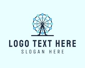 Wheel - Ferris Wheel logo design