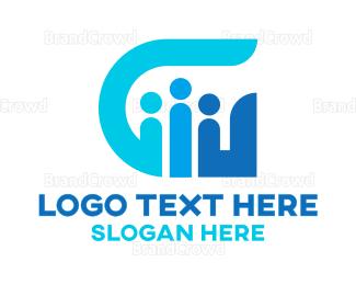 Crowdsourcing - Blue G People logo design