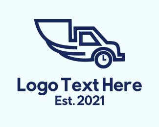 Clock - Blue Truck Clock logo design
