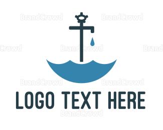 Umbrella - Faucet Umbrella  logo design