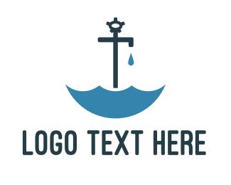 Tap - Faucet Umbrella logo design