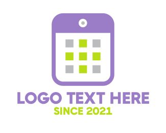 Calendar - Violet Smartphone logo design