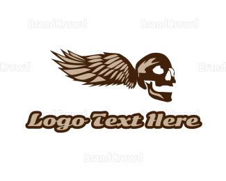 Fiction - Wing Skull Gaming logo design