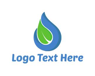 Leaf - Water Leaf logo design