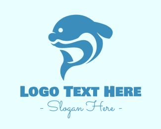 Tail - Blue Dolphin Tail logo design