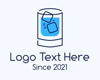 Drinking Glass - Cold Drink logo design