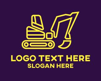 Excavate - Minimalist Excavator logo design