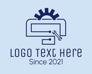 Engine Parts - Blue Engine Repair logo design