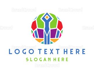 Man - Mosaic Man logo design