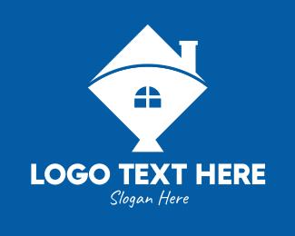Kite - White Kite Home logo design
