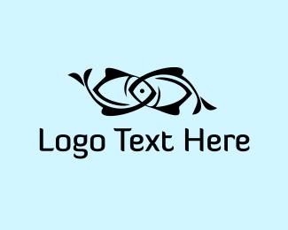 Seafood - Black Fishes logo design