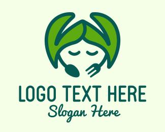 Laurel Leaves - Green Organic Restaurant  logo design