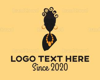 Lady - Curly Lady logo design