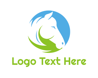 Mustang - Equestrian Circle logo design